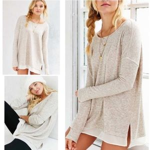 Urban Outfitters Heathered Beige Pullover in Small
